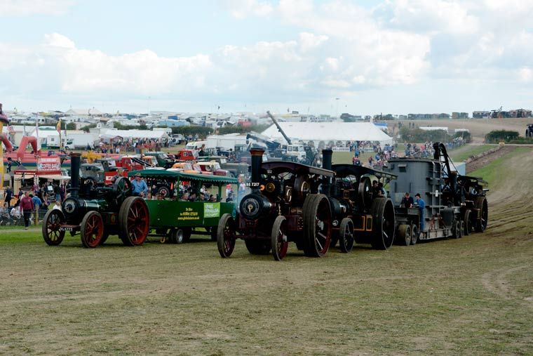 Hitch a ride at the steam fair for a small fee to help the Julia's House children's hospice