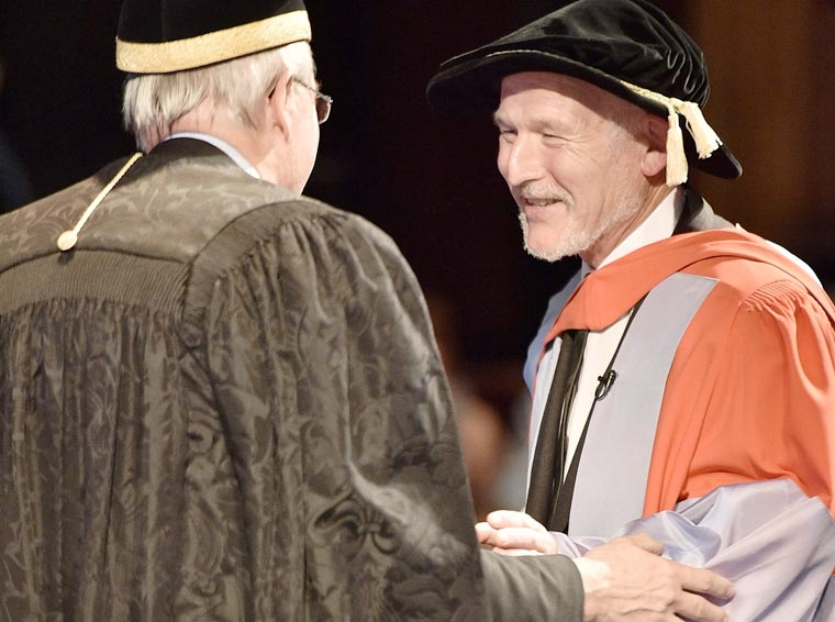 Dorset plumber Steve Etches has received an Honorary Doctorate from the University of Southampton