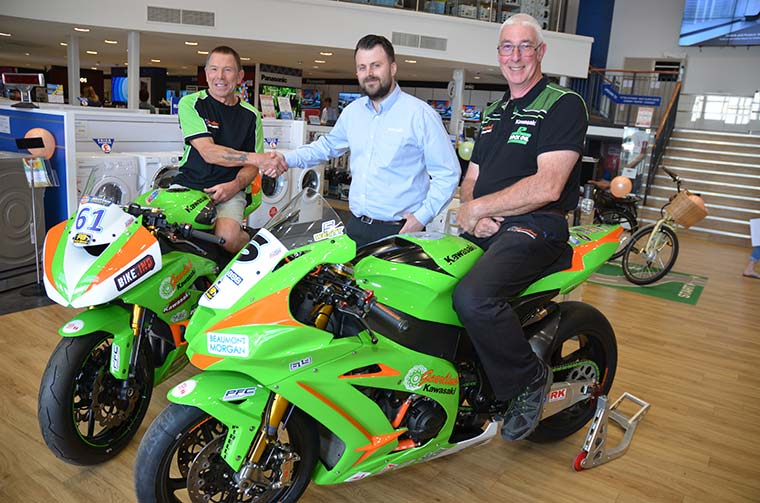 Salisbury Superbikes on display in Purewell Electrical Superstore