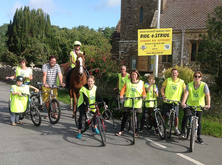 Riders and striders of all ages from Hooke, one group of many from the Lyme Bay Area