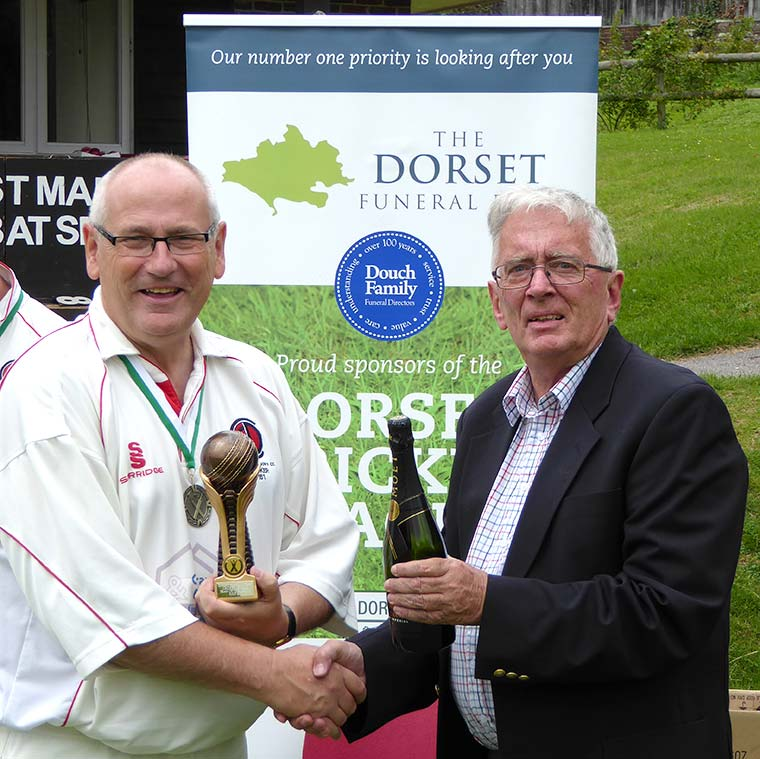 Charlton Down Cricket Club have received the Dorset Funeral Plan Team of the Month award