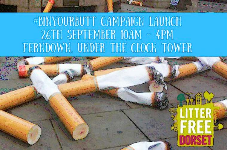 #BinYourButt campaign launch on Tuesday 26 September