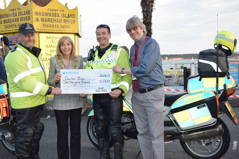 Council gives £1,000 boost to volunteer road safety initiative Doc Bike