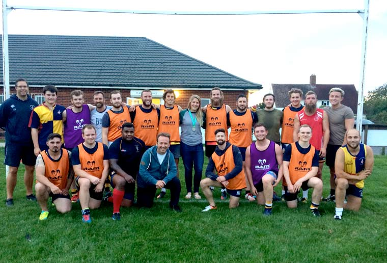 Rugby World Cup Poppy celebrates her return home at Ellingham & Ringwood RFC