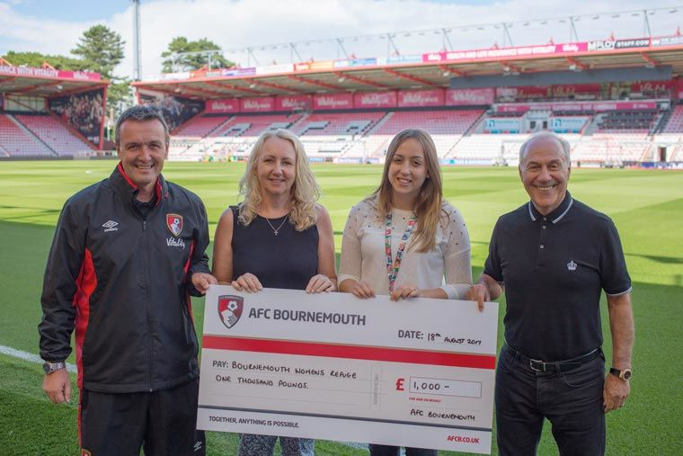 AFC Bournemouth Cherries Community Fund helps children affected by domestic abuse