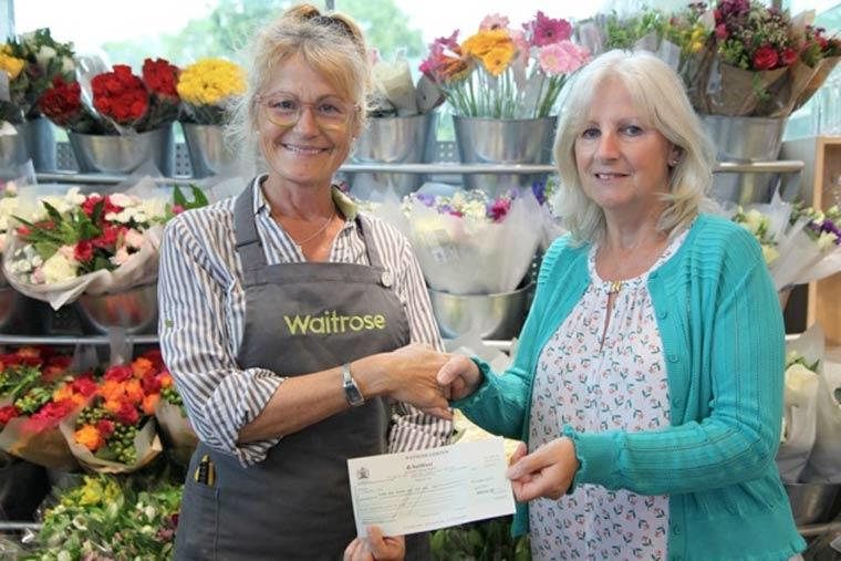 a generous donation to Wimborne and East Dorset Macular Support Group
