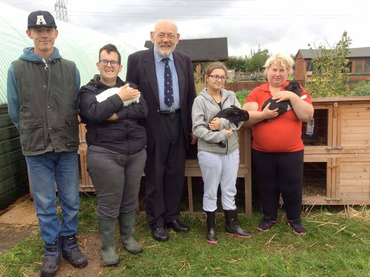 High Mead farm awarded funding for new rabbit hutches