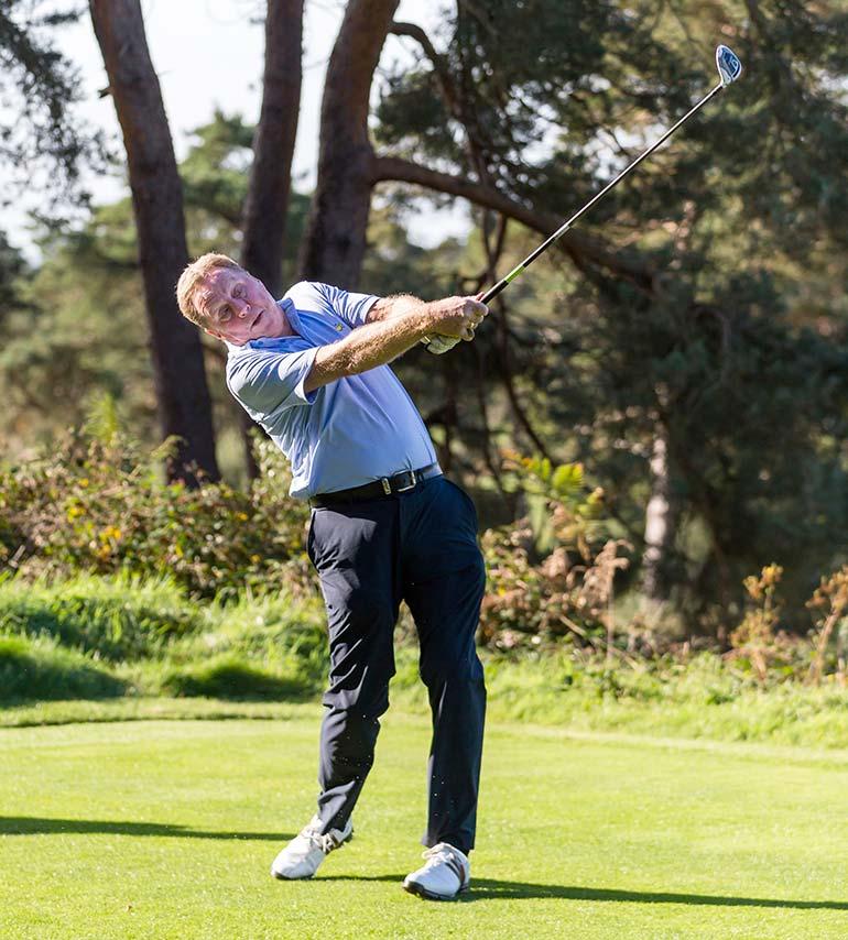 Harry Redknapp taking a swing
