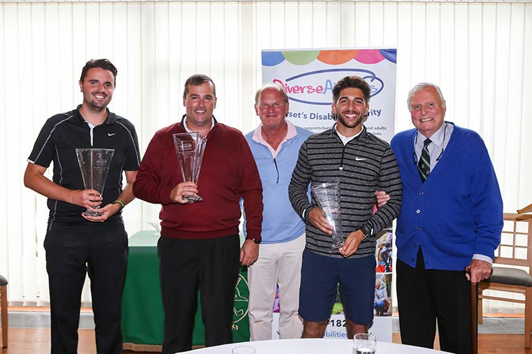 Josh Mitchell, Rob Bagwell, John Smith, Marvin Brooks with Peter Alliss