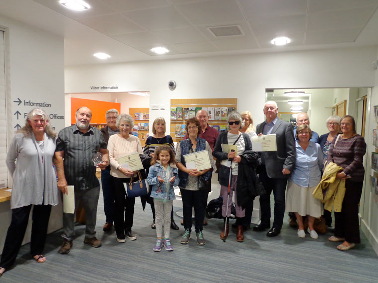 Prize winners of the Ringwood 2017 Allotment competition