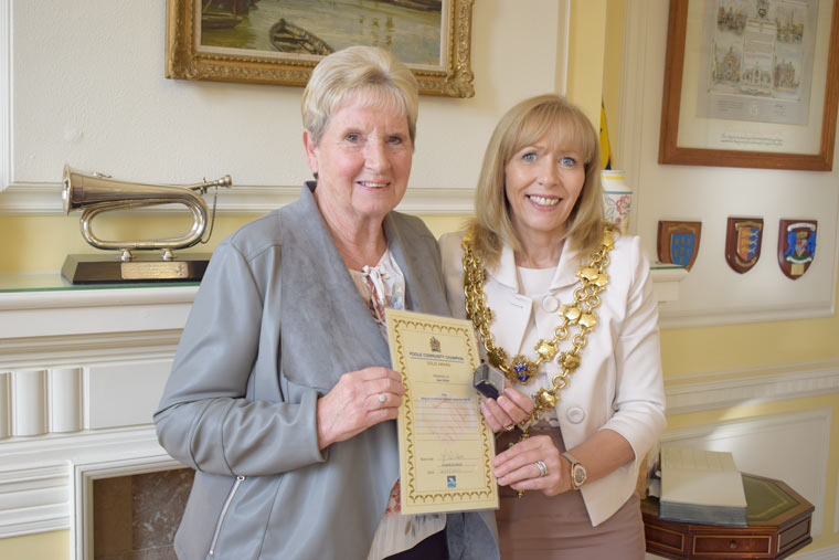 Janet Ballam presented with the Community Champion award