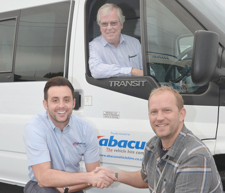 Abacus donate a free minbus to Bournemouth-based charity Michael House
