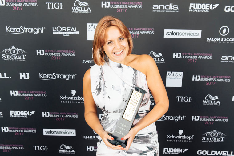 Francesco Group's Amy Sultan wins Salon Stylist of the Year at this year's British Hairdressing Business Awards