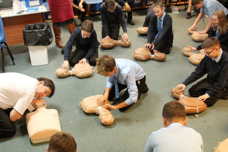 Restart a Heart Day at Ferndown Middle School