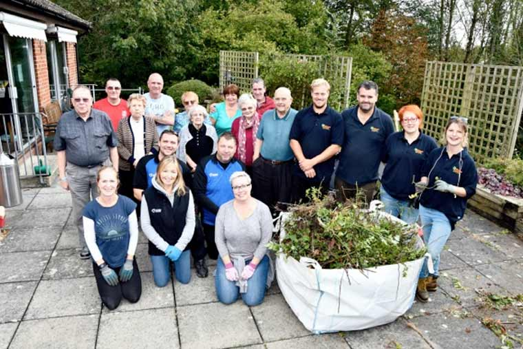 The garden at an over 55's housing scheme in Fordingbridge has taken on a new lease of life