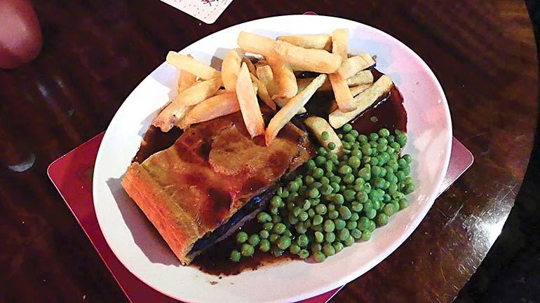 Cross Keys steak pie