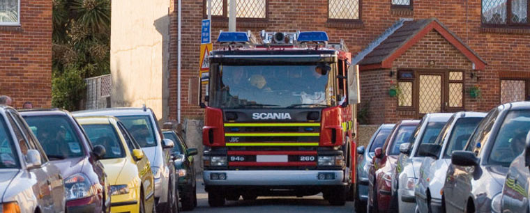Raising awareness for Fire and rescue getting through poor and inconsiderate parking