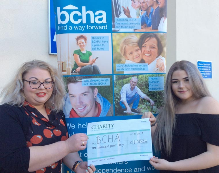 Nicole McNally' successful fundraising event raises £1000