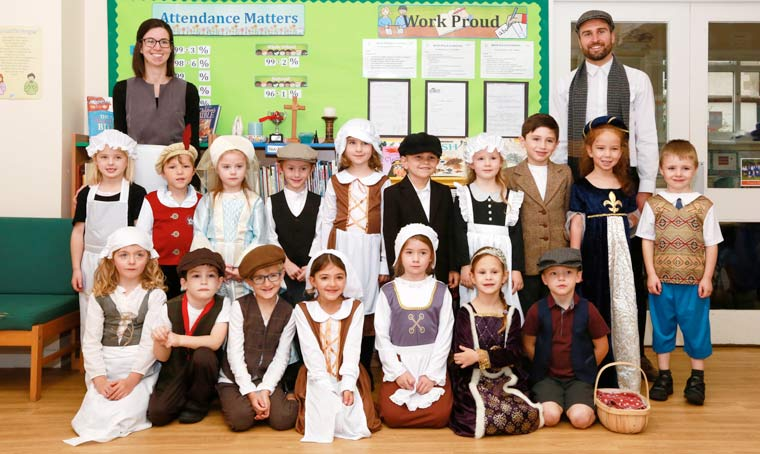 Witchampton First School history lesson