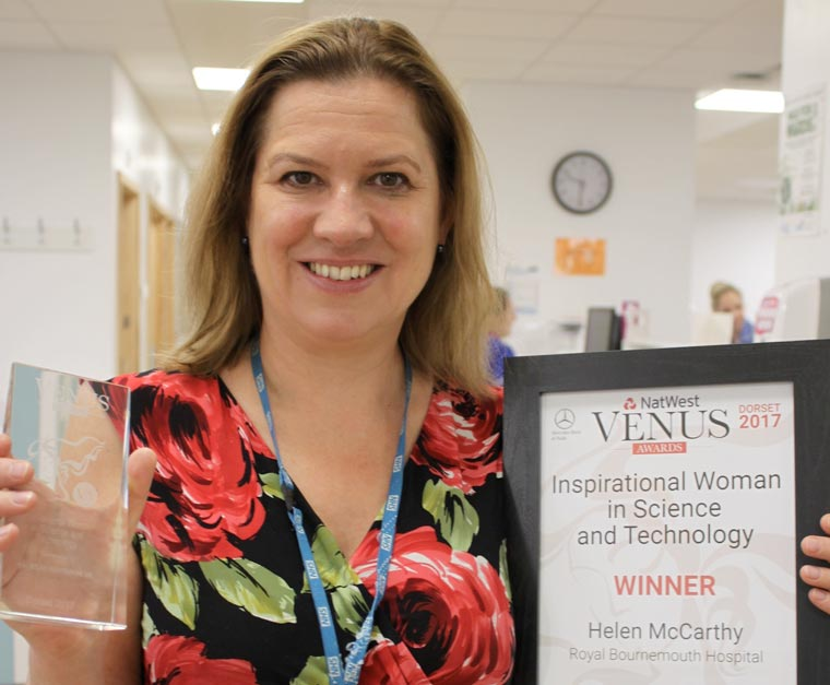Hospital consultant wins at Dorset Venus Awards