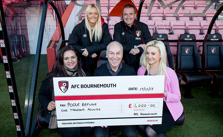 AFC Bournemouth Cheque Presentations