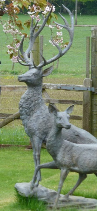Reindeer statue stolen from Rockford garden