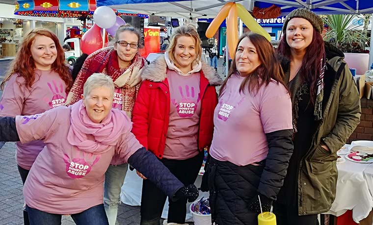 Local organisations fundraising-during-Domestic Abuse Awareness Day