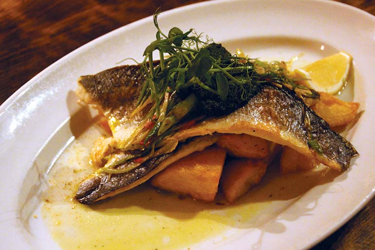 Old Inn pan-fired sea bass
