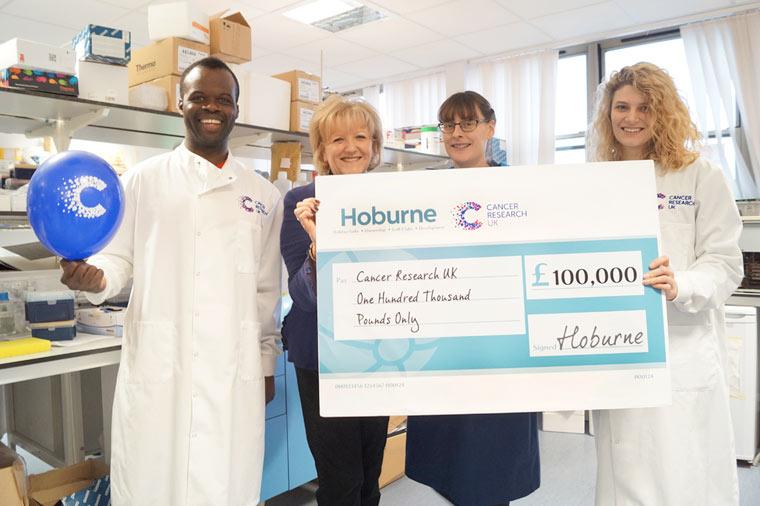 Hoburne raise £100,000 for Cancer Research UK