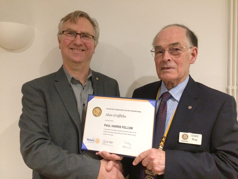 wimborne Rotarian honoured
