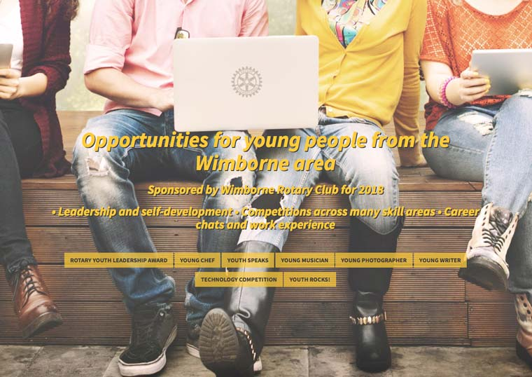 OPPORTUNITIES FOR YOUNG PEOPLE OF WIMBORNE AND DISTRICT