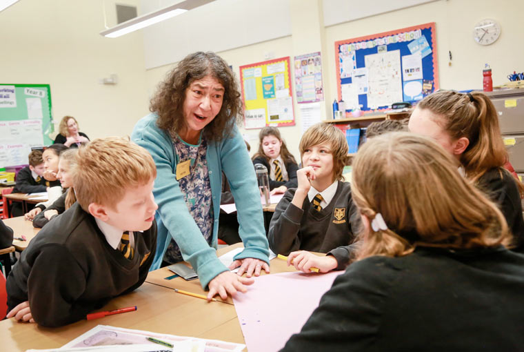 Professor Audrey Geffen visited Allenbourn Middle School to talk to pupils on Holocaust Memorial Day