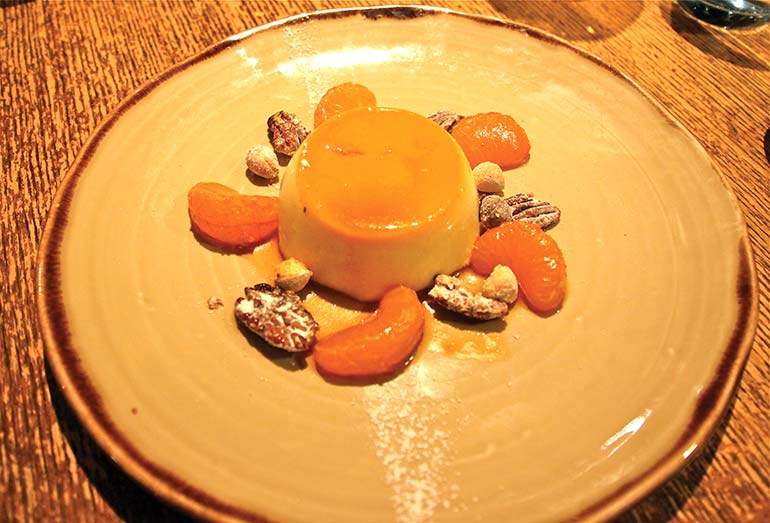 Crême caramel at The White Buck
