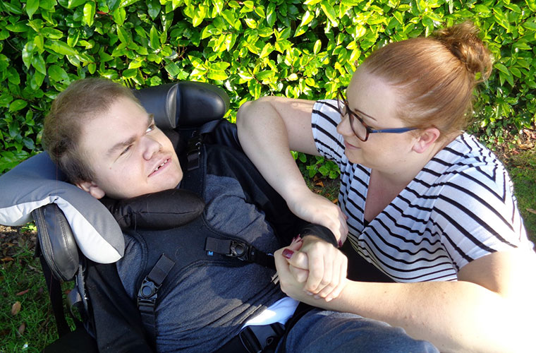 Harrison with Diverse Abilities support worker Hannah