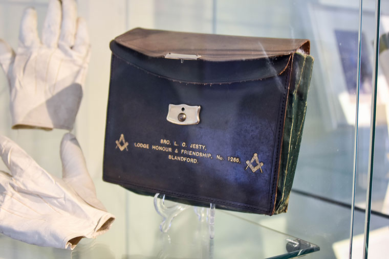 Freemason exhibit at Blandford Fashion Museum
