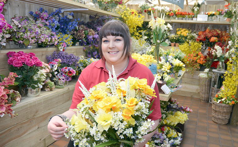 Stewarts Garden Centre fake flowers