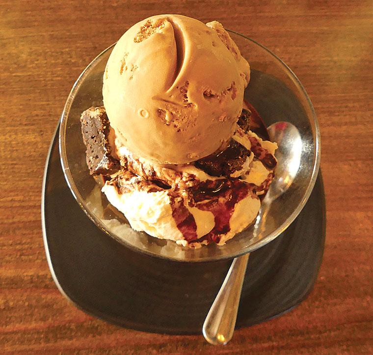 Alice Lisle chocolate brownie ice cream