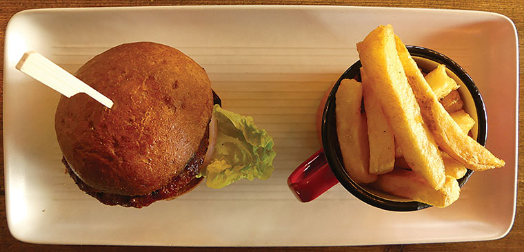 Alice Lisle pork chorizo burger