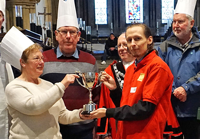 Wimborne Pancake Race 2018 winner