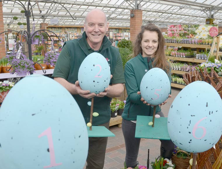 Cracking Easter egg hunt at Stewarts Garden Centres in Christchurch and Broomhill