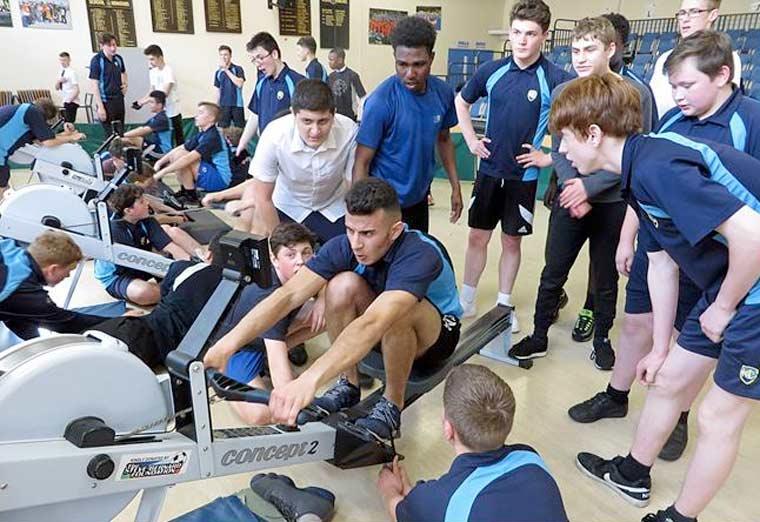 Harewood indoor rowers