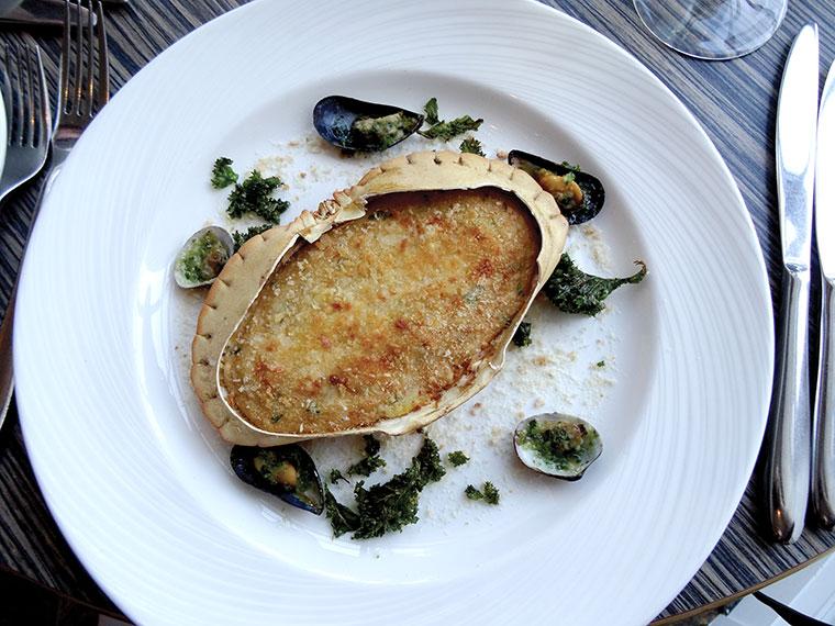 Christchurch crab shell