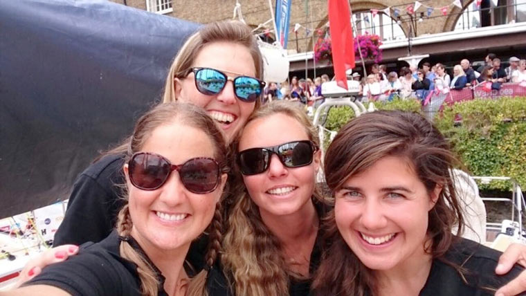 All-female crew preparing for he Round the Island yacht race in July