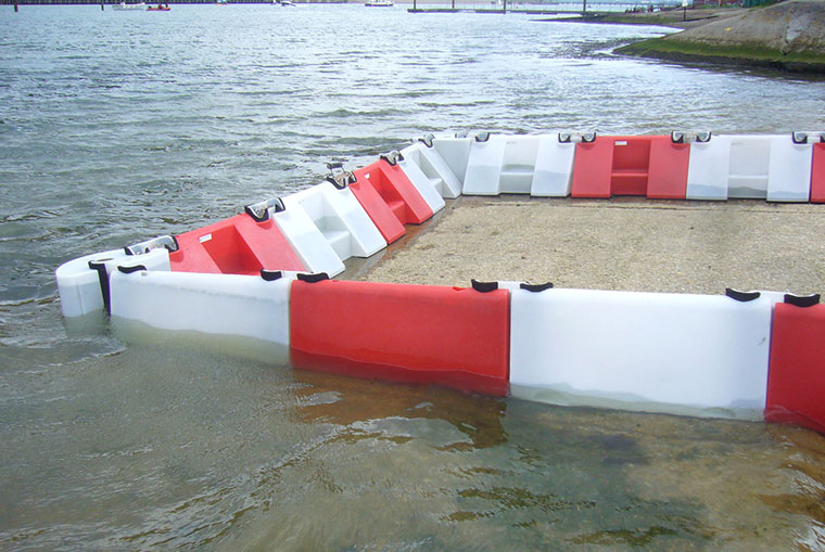 Floodstop flood barrier in action