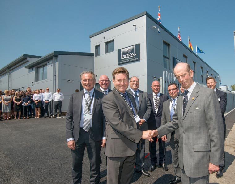 Duke of Kent visits Poole to open BOFA's new HQ