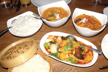 A great selection of Thai dishes