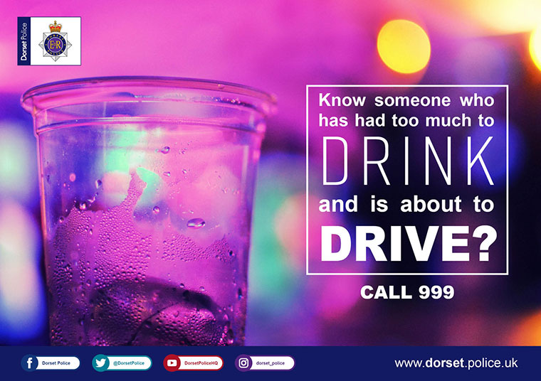 Dorset Police campaign Report a Drink Driver
