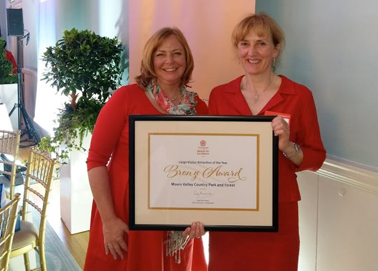 Moors Valley wins Bronze at VisitEngland's Awards for Excellence
