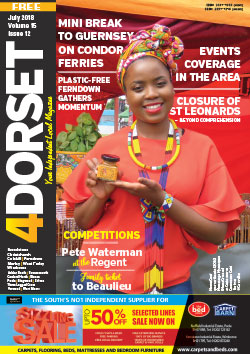 4Dorset magazine July 2018 front cover