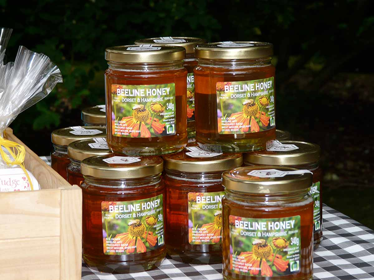 Local honey from east Dorset's Beeline Honey.